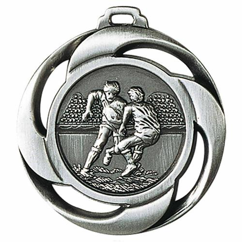 Médaille rugby argent - 40mm.