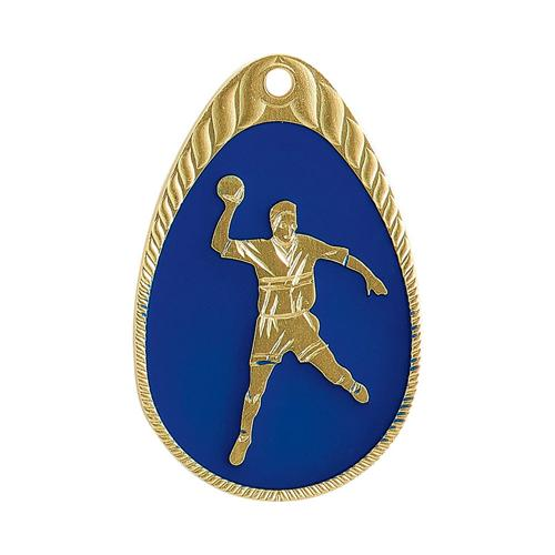 Médaille hand bleu et or émaillée - 45mm.