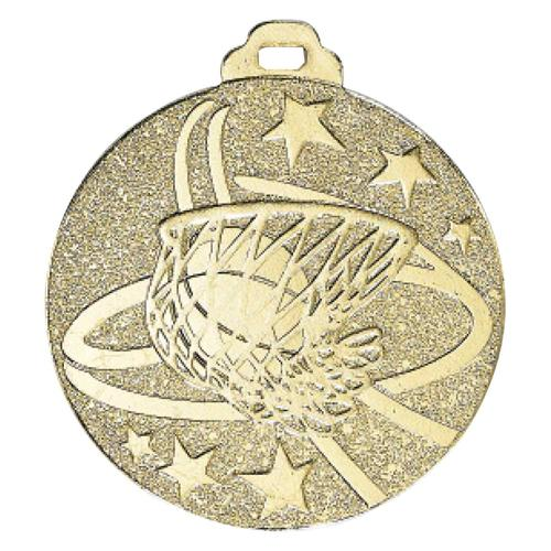 Médaille basket or - métal massif - 50mm.