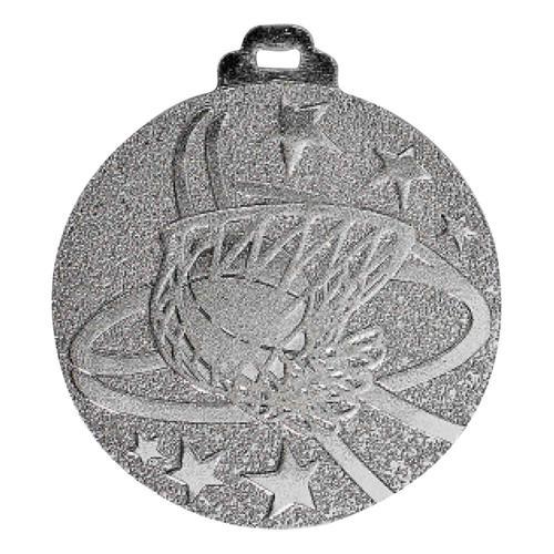 Médaille basket argent - métal massif - 50mm.