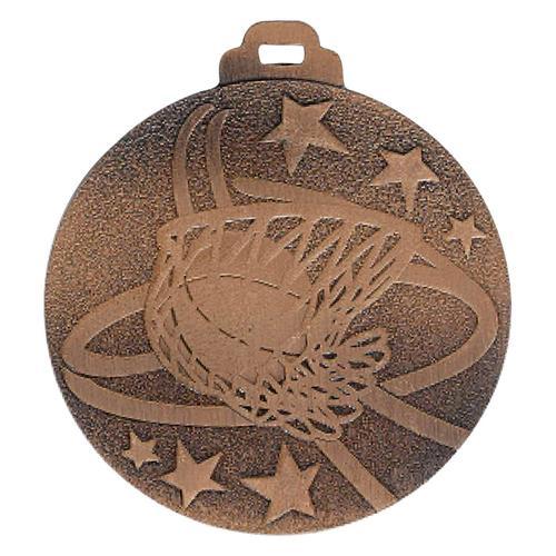 Médaille basket bronze - métal massif - 50mm.