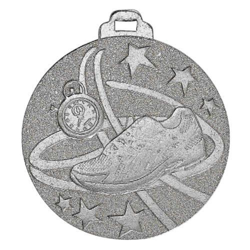 Médaille course à pied argent - métal massif - 50mm.
