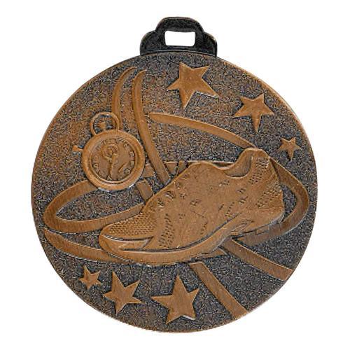 Médaille course à pied bronze - métal massif - 50mm.