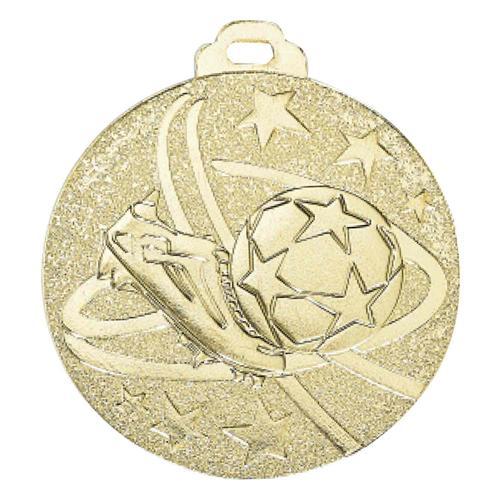 Médaille foot or - métal massif - 50mm.
