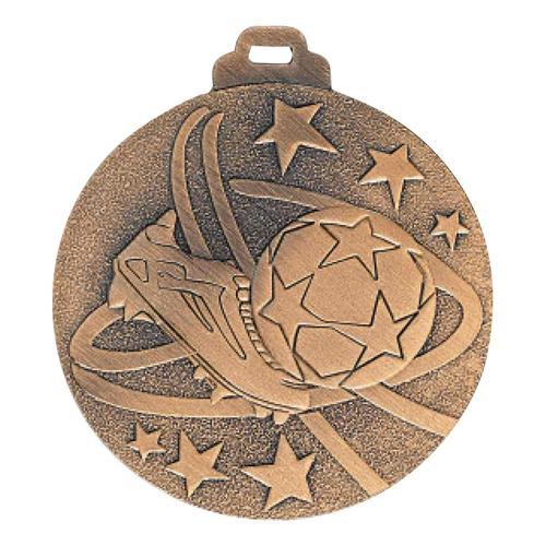 Médaille foot bronze - métal massif - 50mm.