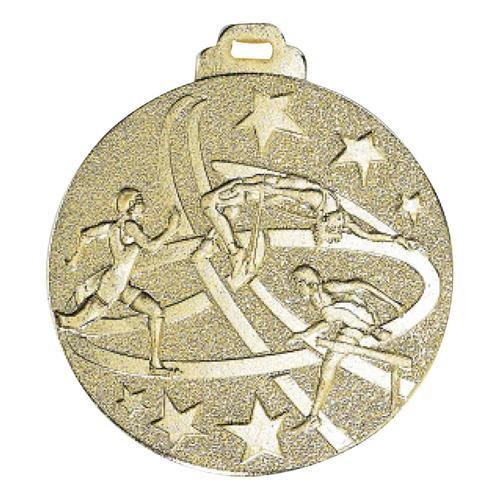 Médaille athlétisme or - métal massif - 50mm.