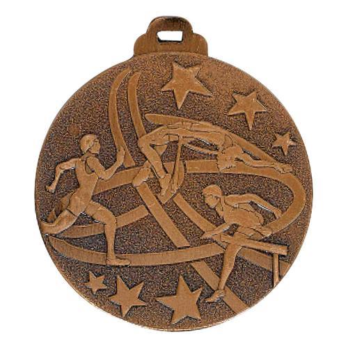 Médaille athlétisme bronze métal massif - 50mm.