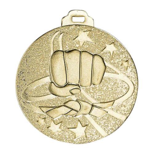 Médaille arts martiaux or métal massif - 50mm.