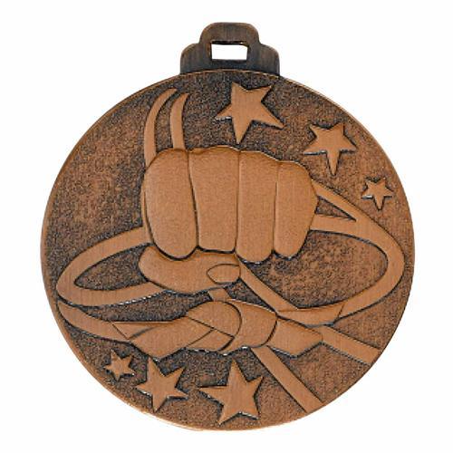 Médaille arts martiaux bronze - métal massif - 50mm.