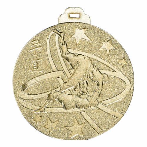 Médaille judo or - métal massif - 50mm.