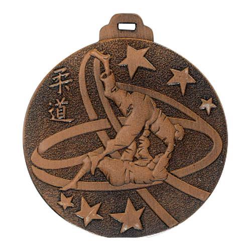 Médaille judo bronze - métal massif - 50mm.