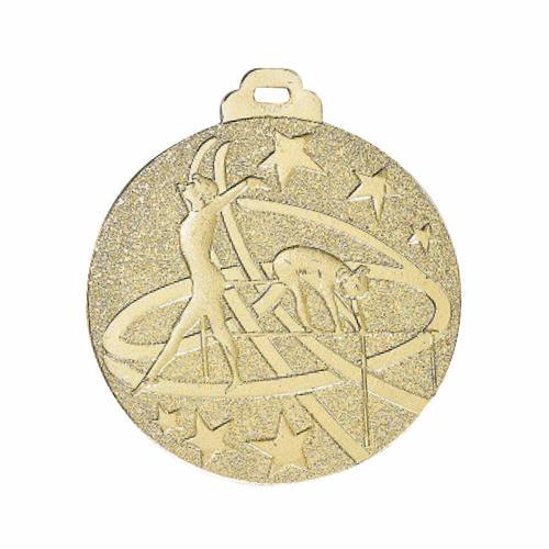 Médaille gym or - métal massif - 50mm.