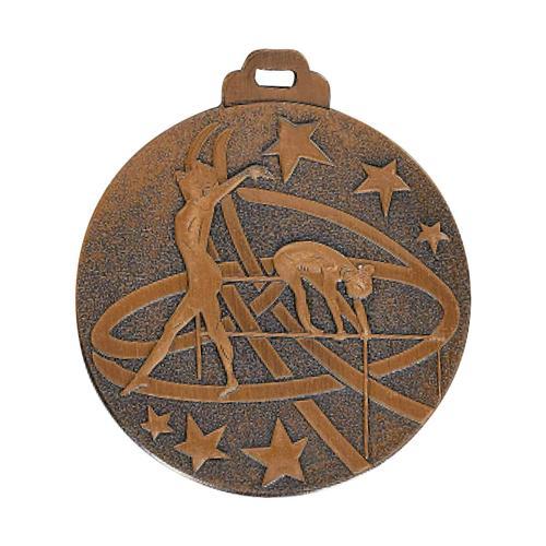 Médaille gym bronze - métal massif - 50mm.