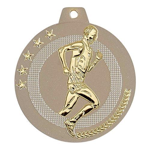 Médaille cross sable et or highlight - 50mm.