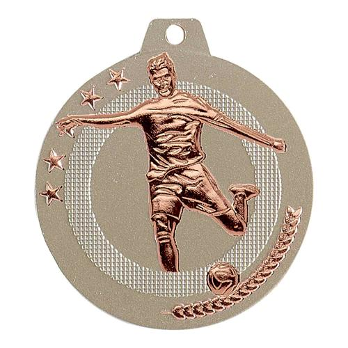 Médaille foot sable et bronze - highlight - 50mm.