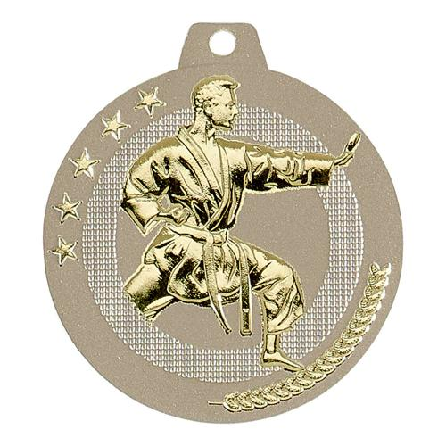 Médaille judo sable et or highlight - 50mm.