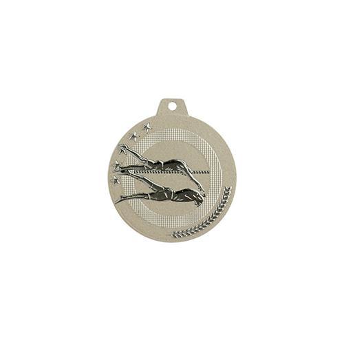 Médaille natation sable et argent - highlight - 50mm.