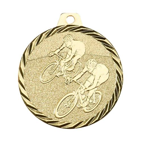 Médaille cyclisme or - 50mm.