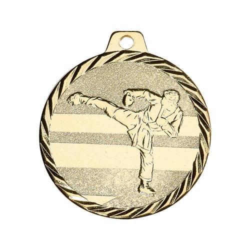 Médaille karaté or - 50mm.