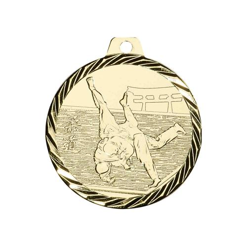 Médaille judo or - 50mm.