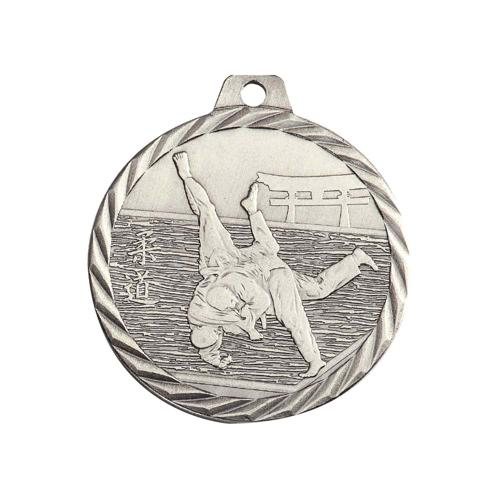 Médaille judo argent - 50mm.