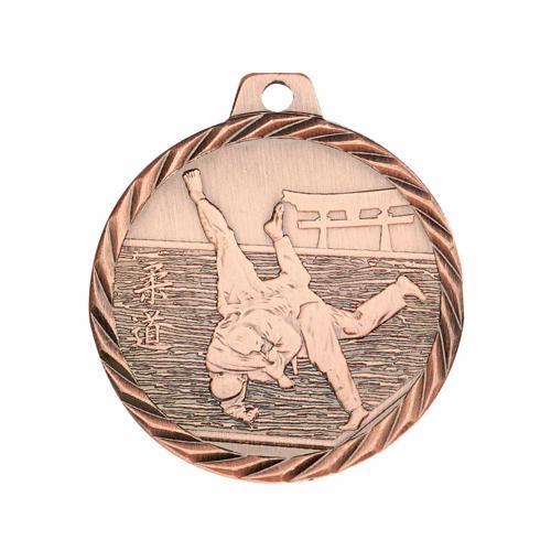 Médaille judo bronze - 50mm.
