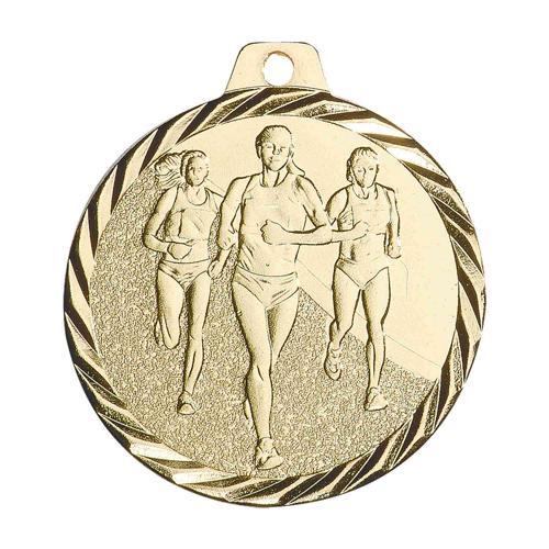 Médaille cross femme or 50mm.
