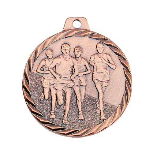 Médaille course à pied bronze - 50mm.