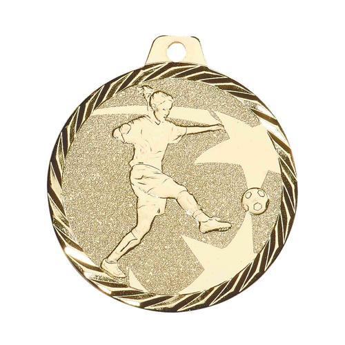 Médaille foot féminin or 50mm.