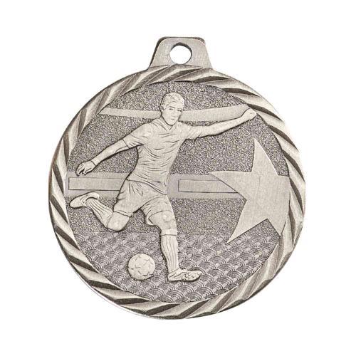 Médaille foot argent - 50mm.