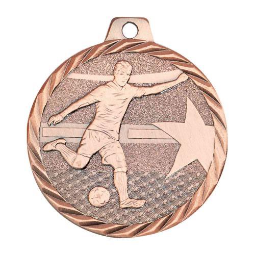 Médaille foot bronze - 50mm.