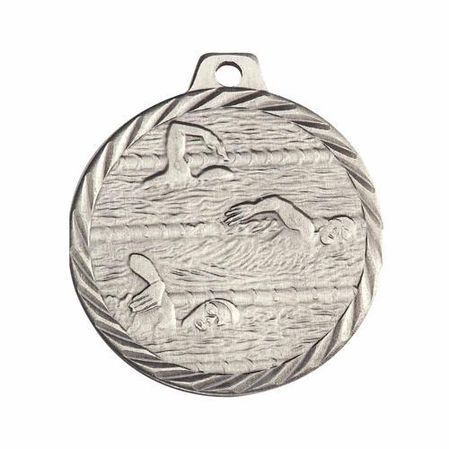 Médaille natation argent - 50mm.