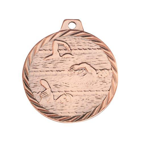 Médaille natation bronze 50mm.