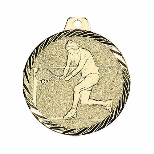 Médaille tennis or - 50mm.