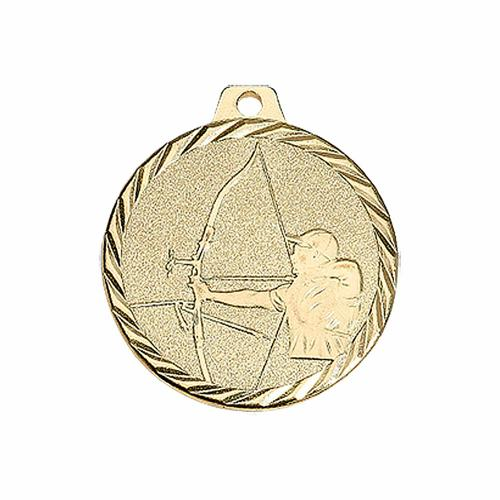 Médaille tir à l'arc or 50mm.