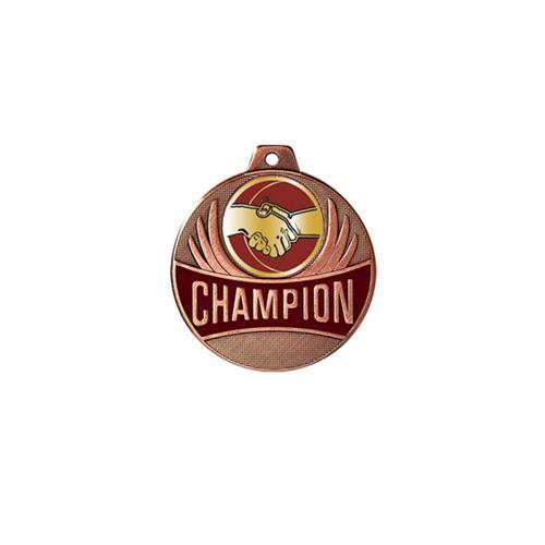 Médaille amitié bronze champion - 50mm.
