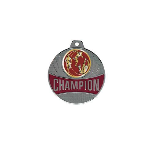 Médaille athlétisme argent - champion - 50mm.