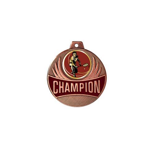 Médaille badminton bronze champion - 50mm.