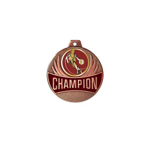 Médaille basket bronze champion - 50mm.