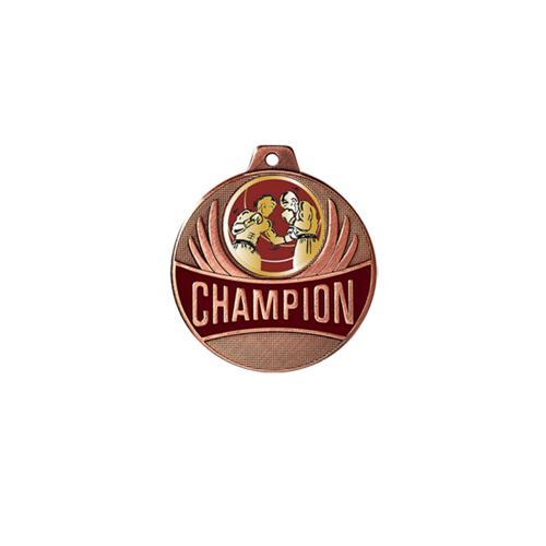 Médaille boxe bronze champion - 50mm.