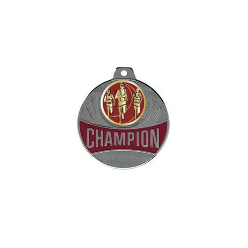 Médaille course à pied argent - champion - 50mm.