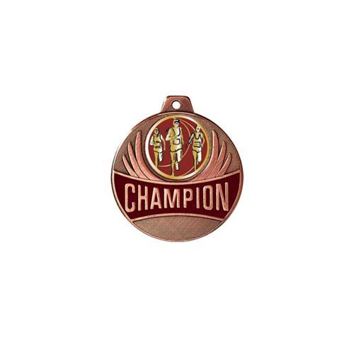 Médaille course à pied bronze - champion - 50mm.