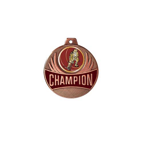 Médaille hockey bronze champion - 50mm.