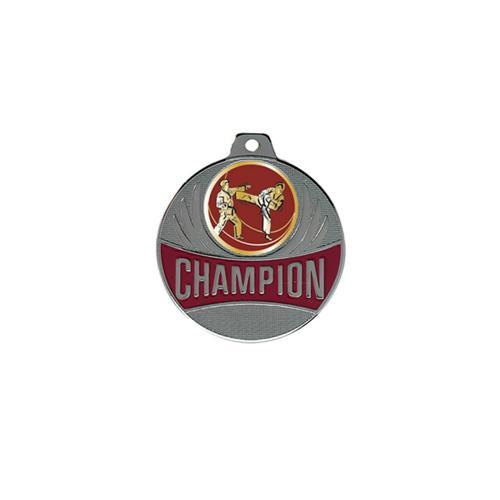 Médaille karaté argent champion - 50mm.