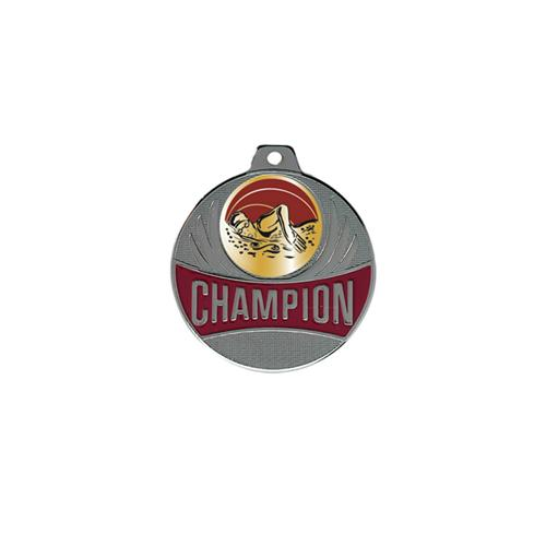 Médaille natation femme argent - champion - 50mm.