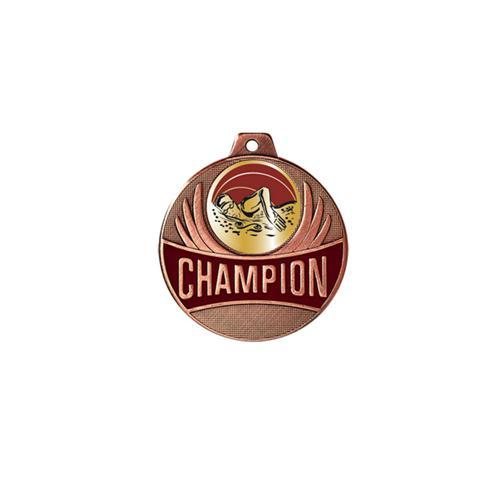 Médaille natation femme bronze - champion - 50mm.