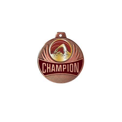 Médaille natation bronze champion - 50mm.