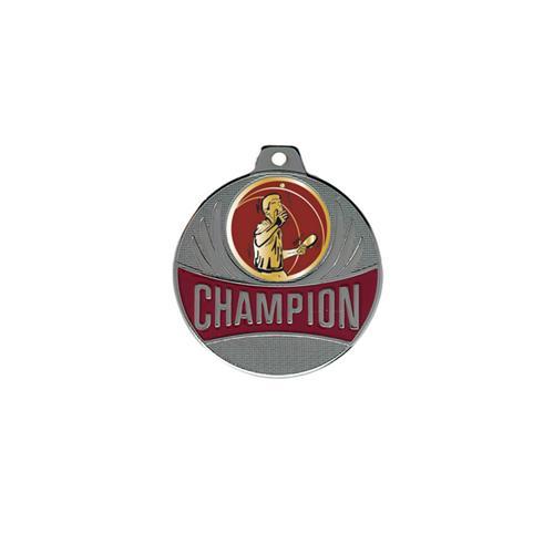 Médaille tennis table argent champion - 50mm.