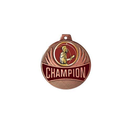 Médaille tennis table bronze champion - 50mm.