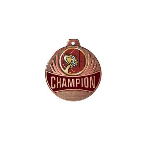 Médaille rugby bronze champion - 50mm.